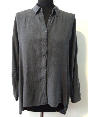 Bluse von Zara Woman, hinten länger geschnitten, Gr. S, Viskose