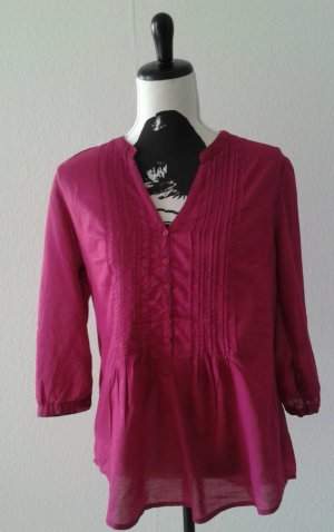 Tie-neck Blouse dark red