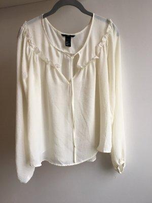 H&M Camicetta a blusa bianco sporco