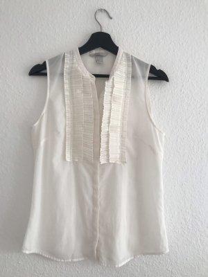 H&M Mouwloze blouse wit
