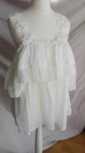 Carmen Blouse white cotton