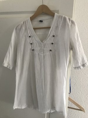 Blouse en crash blanc