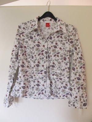 Bluse weiß gemustert s.oliver Gr. 40