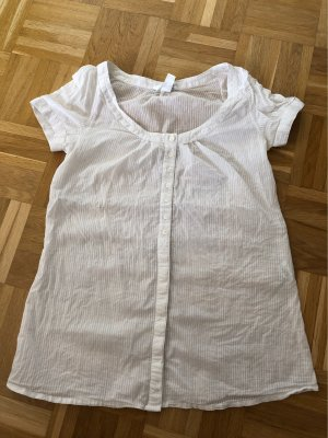 Bluse, weiß, gestreift, Gr. 36