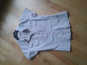 Bluse, weiß grau gestreift