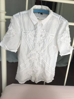 Topshop Camisa de manga corta blanco