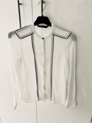 Bluse weiß im Uniformstyle, Zara, Gr. S, Viskose