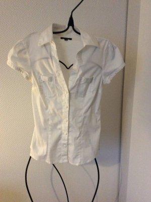 Bluse weiß kurzärmelig Amisu Größe XS