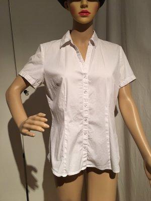 Bluse, weiß, kurzärmlig, Größe 40