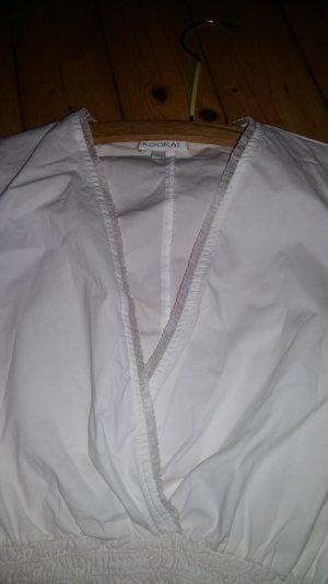 Bluse weiß langärmelig