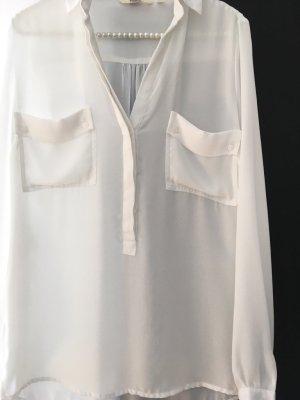 Anne L. Blusa de manga larga blanco Poliéster