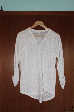 Bluse weiß maritime Muster H&M