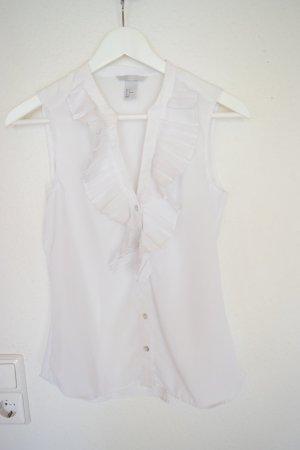 Bluse weiß mit Knöpfen von H&M in Gr. 34