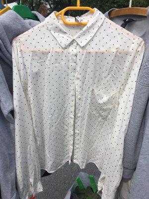 Bluse Weiß mit Punkten