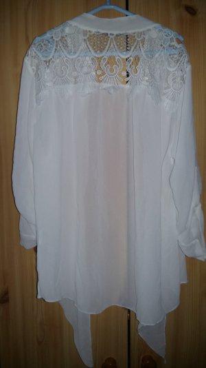 Bluse weiß mit stickerei am Rücken