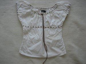Only Short Sleeved Blouse white