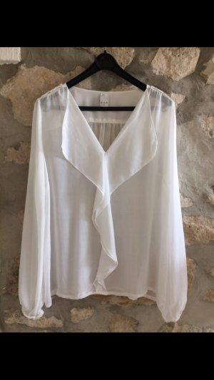 Bluse weiß | transparent | leicht | Vila