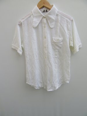 Vintage Empiècement de blouses blanc