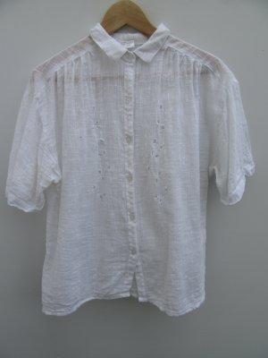Vintage Blouse sans manche blanc