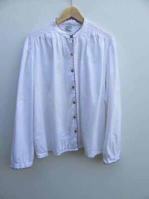 Bluse weiß Vintage Retro Tracht Gr. 50 oversize