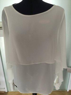 Zara Blouse met lange mouwen wit Polyester