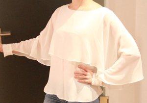 Bluse weiß von Zara 34-36