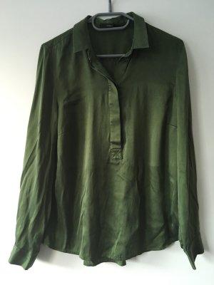 Windsor Glanzende blouse bos Groen