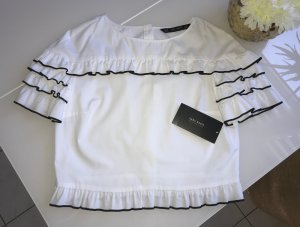 Bluse Zara Basic Collection / weiss