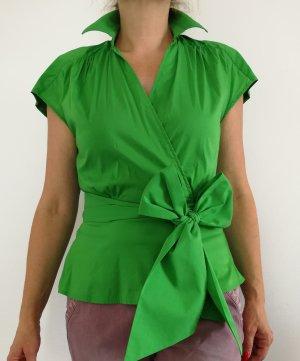 Zara Blusa cruzada verde