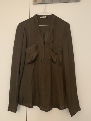 Zara Glanzende blouse veelkleurig