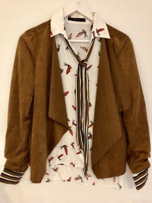 Bluse Zara inkl. Wildlederblazer von Noisy May  Gr. M Neu