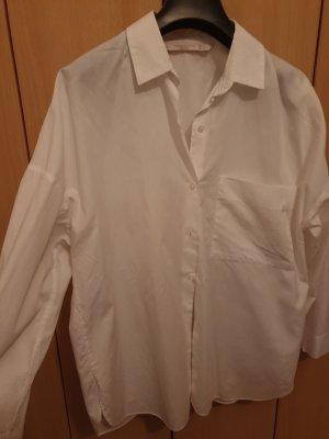Zara Basic Blusa ancha blanco