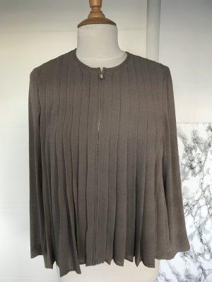 Bluse Zara Plissee Beige S