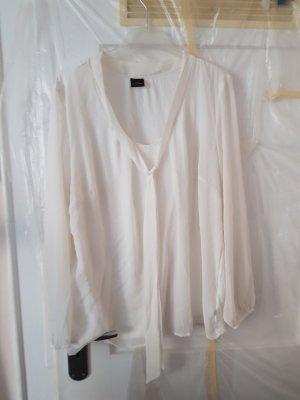 Blusa taglie forti bianco