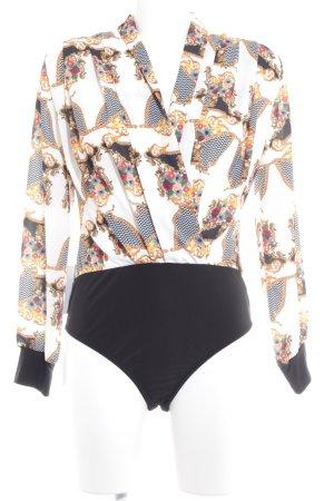 Blusa tipo body estampado floral elegante