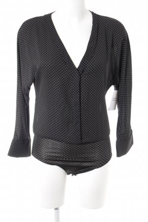 Bodysuit Blouse black-white spot pattern casual look
