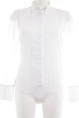 Blusa tipo body blanco estilo «business»