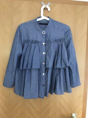 Blusen Hemd in Jeansblau von Zara