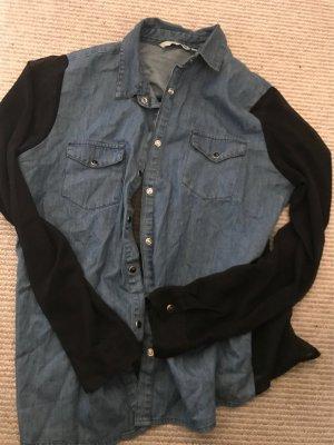 Blusen Hemd mit schwarzem Highlight am Rücken