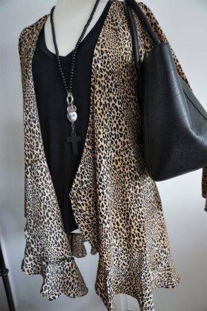 H&M Blousejack lichtbruin-zwart