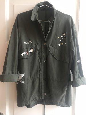 Blusen-Jacke mit Schriftzug Gr. S