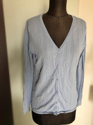 Blusen Jacke Überzieher Gr 40 42 L, blau