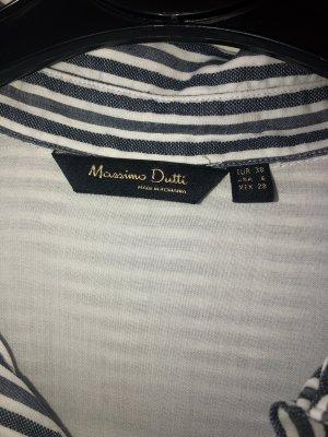 Massimo Dutti Robe chemisier gris-blanc