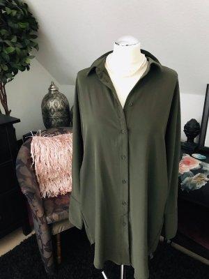 Blusen Kleid mit Taschen grün gr. 40
