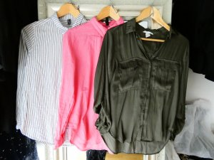 H&M Linen Blouse multicolored