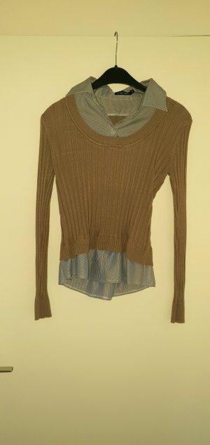 no name Empiècement de blouses marron clair-gris ardoise