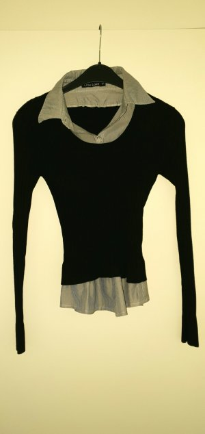 no name Twin-set trui zwart-azuur