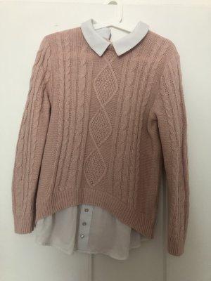 Blusen Pullover mit Kragen in rosa primark