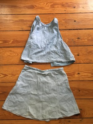 American Apparel Twin set in jersey azzurro