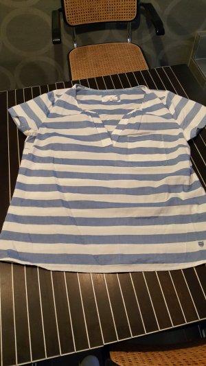 Basefield Blusa blanco-azul aciano